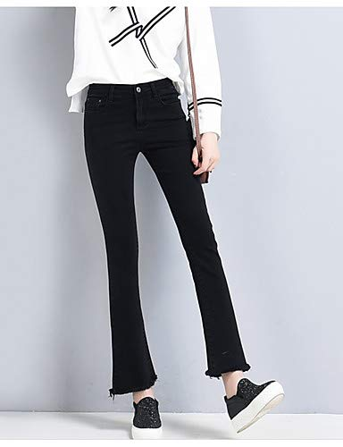 Couleur Unie Black Basic pour Pantalon YFLTZ Jeans Femme wznBqXn48