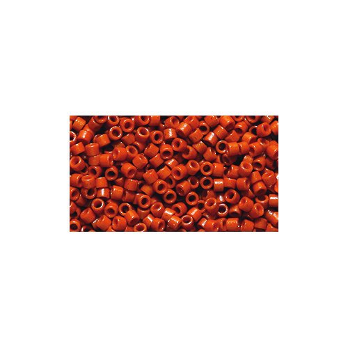 Miyuki Delica Seed Bead 11/0 DB2108, Duracoat Opaque Persimmon, 9-Gram/Pack