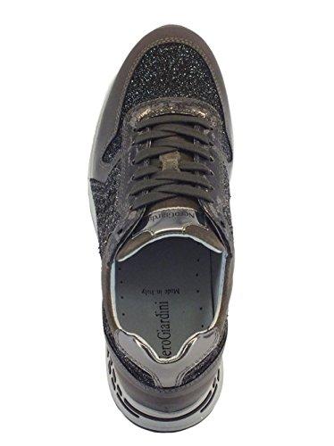Nero Giardini A719470 Nappa Jannots Antracite Argento, Damen Sneaker Anthrazit