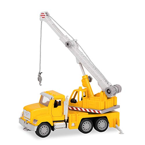 DRIVEN by Battat - Micro Crane Truck - Toy Crane Truck with Lights, Sounds and Movable Parts for Kids Age 3+