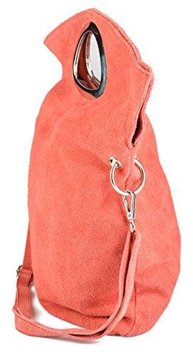 Handtasche für Damen aus Nubukleder! Beuteltasche, Henkeltasche, Schultertasche, echt Leder!