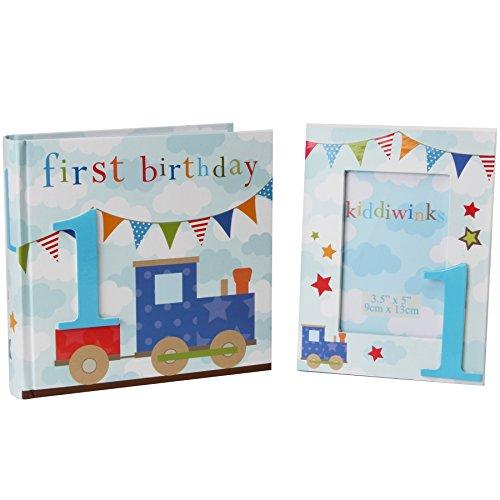 Boy 1st Birthday Photo Album And Matching Photo Frame In Matching