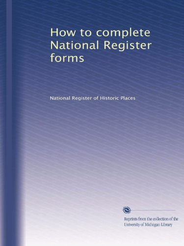 Books : How to complete National Register forms (Volume 3)