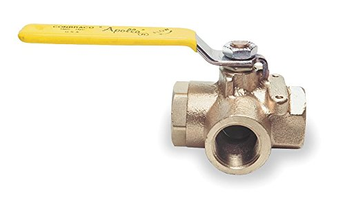 Bronze Ball Valve 3-Way 1/2