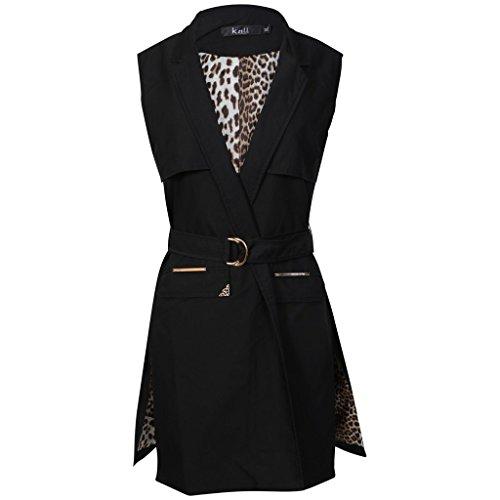 MKL Fashions - Abrigo - para mujer negro