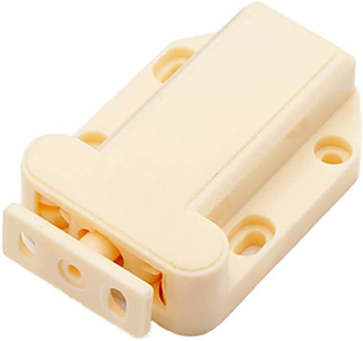 Color : Beige, Size : 69x30mm GonFan 4 Pcs Beetle Forme Tactile Loquet De Tiroir Cabinet Push to Catch Cuisine Ouverte Portes Armoire