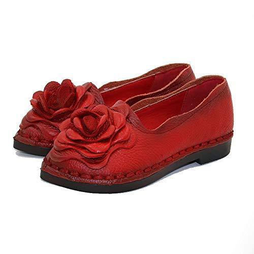 Taille ZHRUI Noir Chaussures EU Rouge coloré 38 FxqOwtrFz