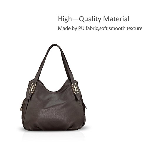 Brown PU Women Satchel Purse Tote Crossbody Leather Black Nicole Shoulder Bag Bag Hobo amp;Doris Handbags 6Hz5PwSqp