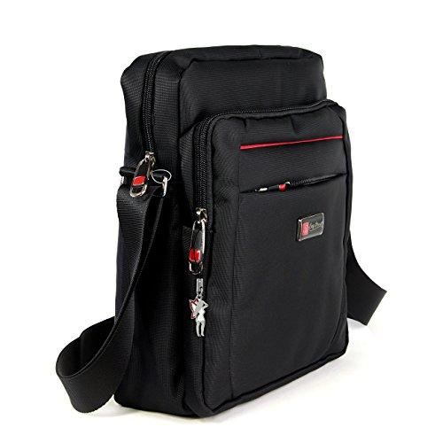 Umhängetasche schwarz Polyester Messenger bag Cross-Body Schultertasche Bag Street OTJ254S