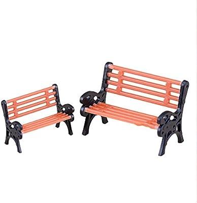 House  Wooden Garden Chair Miniature Dollhouse furniture Park Bench V!