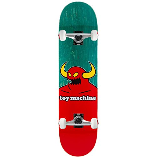 """Toy Machine Complete Pro Skateboard Monster (Assorted) 8.0"""" Raw Trucks Assembled"""