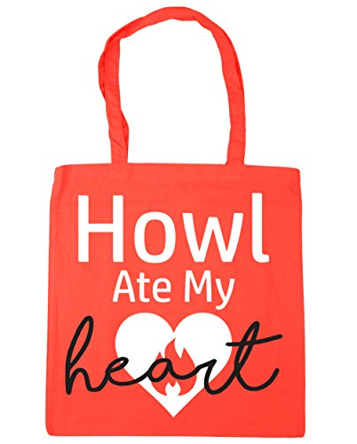 HippoWarehouse x38cm Beach Howl Tote Bag 42cm Coral litres Gym Ate My 10 Heart Shopping 66gvrwx
