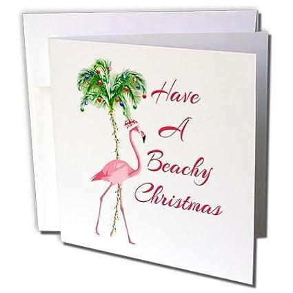 Flamingo Christmas Cards.Amazon Com 3drose Macdonald Creative Studios Merry