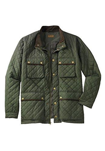 Boulder Creek Men's Big & Tall Quilted Jacket, Olive Big-2Xl