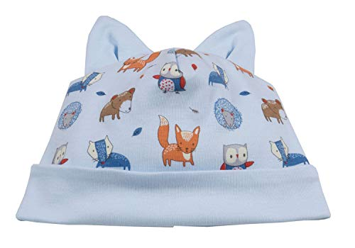 Kissy Kissy Baby-Boys Infant Forest Critters Print Hat-Multicolored-Small