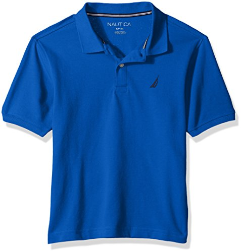 Decks Clothes (Nautica Toddler Boys' Short Sleeve Deck Polo With Stretch, Anchor Lapis Blue, 2T)