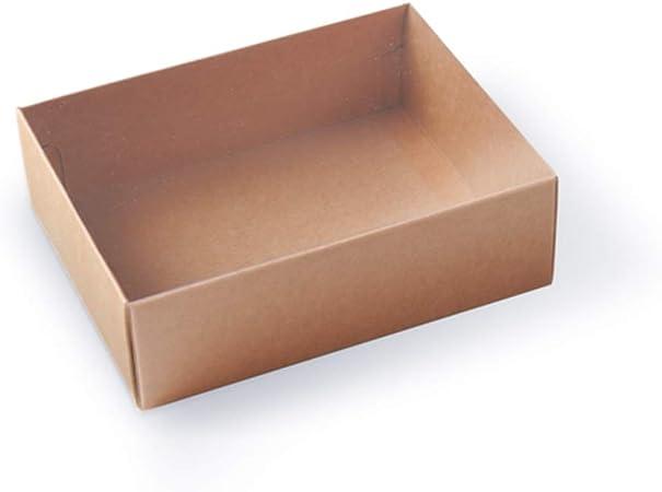 Selfpackaging Caja para Macarons con Faja Transparente Tiendas o Dulces caseros - Pack de 50 Unidades - M: Amazon.es: Hogar