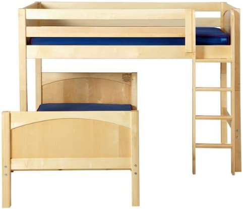 Maxtrix Kids Mix Max L Shaped Twin Over Full Bunk Bed Kitchen Dining