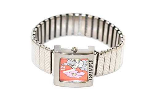 LORUS Bambi Thumper Rabbit Silver Square Stainless Steel Expansion Watch