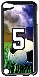 Soccer Sports Fan Player Number 05 Black Plastic Decorative iPod iTouch 5th Generation Case