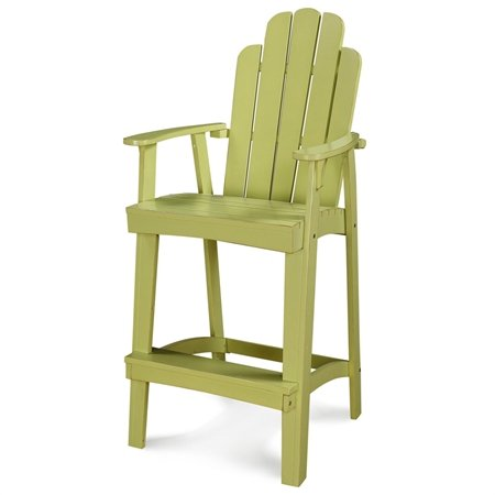 Adirondack Bar - Chic Retreat Fiesta Outdoor Adirondack Barstool, Parakeet Green, 30-Inch