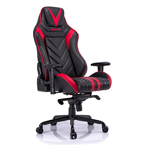 Aminiture Big And Tall Gaming Chair Red High Back