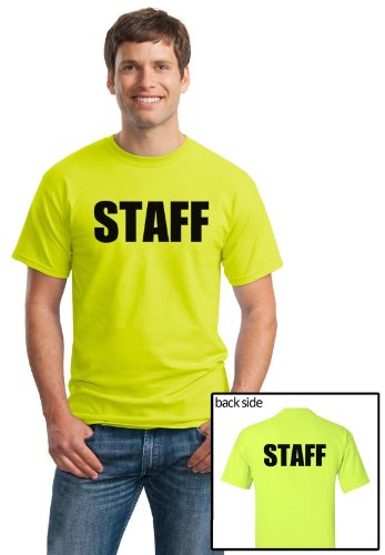 STAFF | Neon Two Sided Print - Event, Concert, Party, Festival Unisex T-shirt