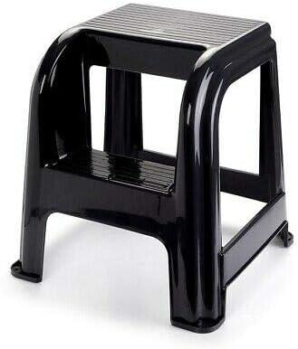 Taburete de plástico con escalón, Silla Escalera práctica Dos escalones: Amazon.es: Jardín