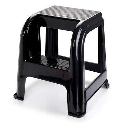 Taburete de plástico con escalón, Silla Escalera práctica Dos escalones