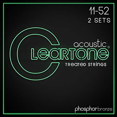 (Cleartone 7411 Phosphor Bronze Acoustic Guitar Strings 11-52)