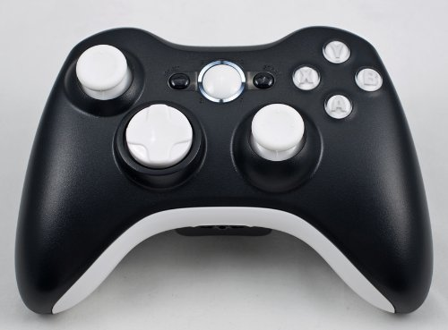 Black/White Xbox 360 Modded Controller (Rapid Fire) COD