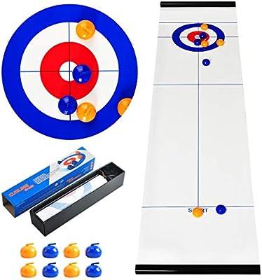 CS COSDDI Shuffleboard Game Juego de Mesa Curling Ball Entretenimiento Juegos Tabletop Curling Juego Table Top Juegos para Familias: Amazon.es: Juguetes y juegos