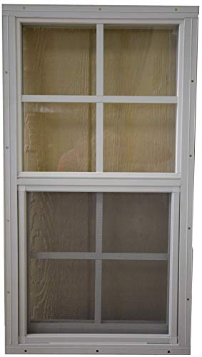 SHED PLAYHOUSE WINDOW-14X27-BROWN-FLUSH by OUTDOOR PLAY AND STORAGE