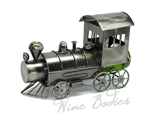 Cheap WINE BODIES ZB855 Choo Train Metal Bottle Holder, Charcoal