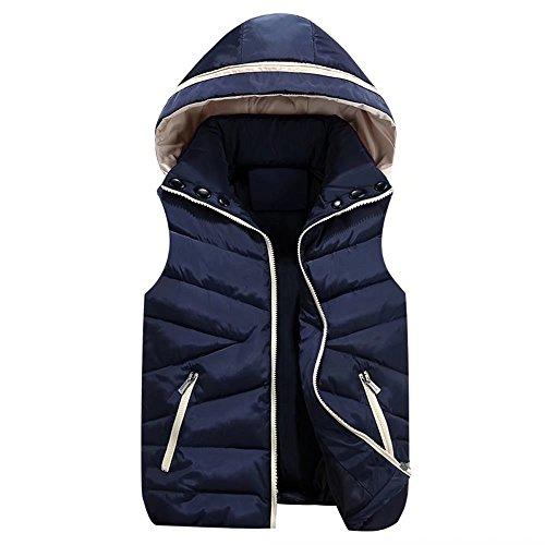 光の自動化懐疑論TTC 中綿ベスト 男女兼用 親子服 ペアルック 全5色 ブート付き 防寒 ショート丈 袖なし 前開き ジャケット サイズ豊富
