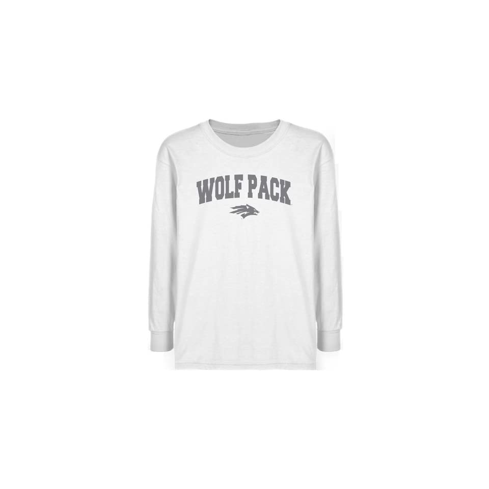 Nevada Wolf Pack Youth White Logo Arch T shirt