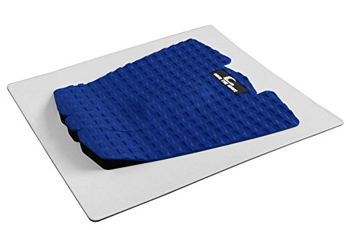 Own the Wave 3pc Customizable Grip Pad - Ultimate Grip with 3mm Adhesive Guaranteed to Stick on All Boards Surfboard, Longboard, SUP Board, Skim Board (Blue)