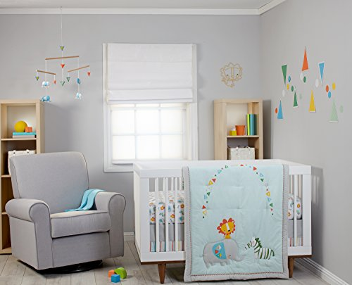 Zutano Juba 5 Piece Crib Set, Multi-Colored