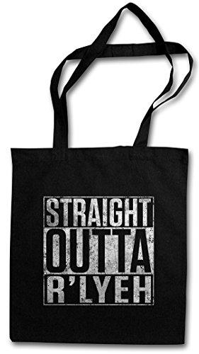 STRAIGHT OUTTA R'YLEH Hipster Bag Beutel Stofftasche Einkaufstasche