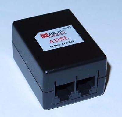 Focuslife ADSL ADSL2+ DSL Modem Telephone Phone Fax In-Line Splitter Filter Network APN703