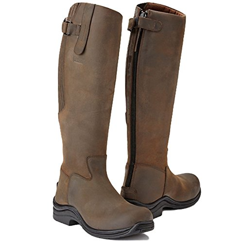 Boot 40 Size 6 Leg Brown 5 Wide Long Fitting Riding In Leather Full With Calgary Zip EU Toggi Cheeco qUZzxIw