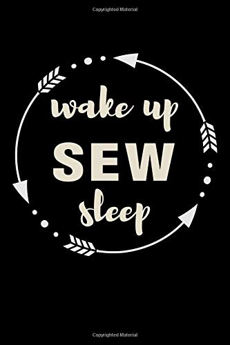 Wake Up Sew Sleep Gift Notebook for a Tailor: Medium Ruled Blank Journal