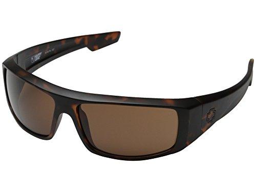Spy Optic Logan Sunglasses Matte Tortoise w/ Bronze Lens + - Sunglasses Tortoise Spy