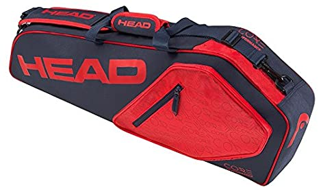 2d72058e Amazon.com : HEAD Core Pro 3R Racquet Bag (Navy/Red) : Sports & Outdoors