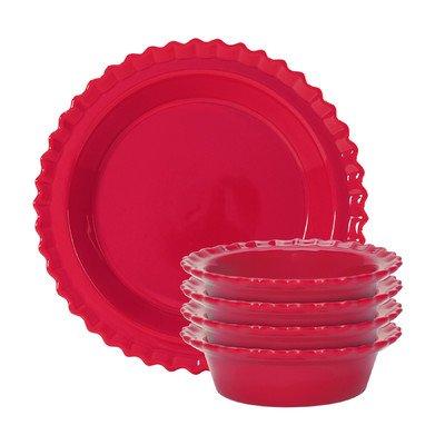 5 Piece Pie Set Color: True Red