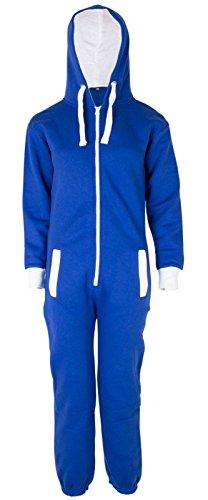 Fleece Playsuit (New Kids Girls Boy Unisex Plain Fleece Zipup All In One Hooded Jumpsuit Playsuit)