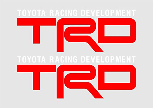 Fj Cruiser Decals Teq 8in Racing Development Trd Vinyl Decal Sticker 2ea (Red and White) W/Free Shipping