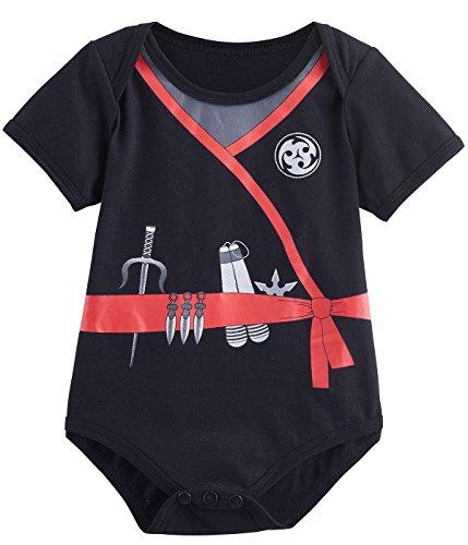 Mombebe Baby Boys' Ninja Costume Bodysuit (12-18 Months,