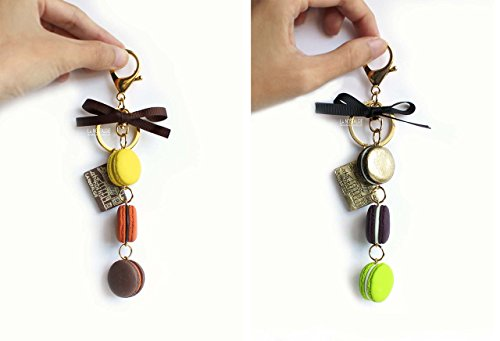 Charms Findings Purses (Macaron Keyring,Macaroon Keychains, French Macaron, Silver Key Ring, Bag Charm, Gold Keychain, Purse Charms, Macaroon Accessories, Key Fobs, Macaron Gifts, Holiday Gift Idea, Wedding Gifts)