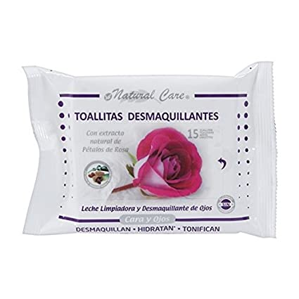 Natural care - Toallitas desmaquillantes 15 uds.